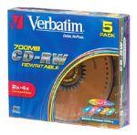 Verbatim CD-RW 80 Min 700MBDataLifePlus Colours Slim
