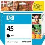 HP 45 Black Ink Cartridge Twin Pack (CC625AA)