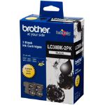 Brother LC38BK2PK Black Ink Cartridge 2 Pack 300 pages
