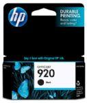 HP 920 Black Officejet Ink Cartridge, 420 pages (CD971AA)