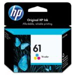 HP 61 Tri-Color Inkjet Print Cartridge, 165 pages (CH562WA)