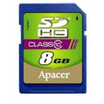Apacer 8GB SDHC Card for DSLR & Video Recorder Class