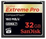 SanDisk 32GB Extreme Pro CF CompactFlash Memory Card - 160MB/s