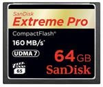 SanDisk 64GB Extreme Pro CF CompactFlash Memory Card - 160MB/s
