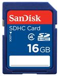 SanDisk 16GB SDHC Memory Card - Class 4