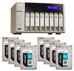 QNAP TVS-863-4G 8 Bay NAS + 8x Seagate ST3000VN000 3TB NAS HDD