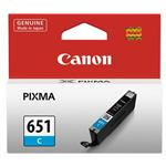 Canon CLI651 Cyan Ink Cart 332 A4 pages (ISO/IEC 24711) Cyan