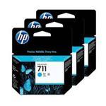 HP 711 3-pack 29-ml Cyan Ink Cartridges CZ134A