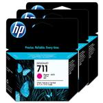 HP 711 3-pack 29-ml Magenta Ink Cartridge CZ135A
