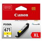 Canon CLI-671XLY High Capacity Yellow Ink Cartridge Up To 715 pages