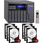QNAP TVS-882-i5-16G 8 Bay NAS + 6x WD WD40EFRX 4TB Red NAS HDD