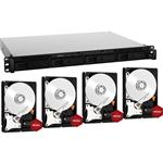 Synology RS816 4 Bay NAS + 4x WD WD80EFZX 8TB Red NAS HDD