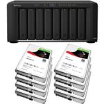 Synology DS1815+ 8 Bay NAS + 8x Seagate ST10000VN0004 10TB IronWolf NAS HDD