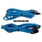 Corsair Split PCI-E Premium Sleeved Cable Type 4 Gen 3 - Blue - 2 Pack