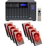 QNAP TVS-1282-i7-64G 12 Bay NAS + 8x WD WD10EFRX 1TB Red NAS HDD