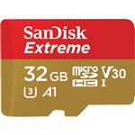SanDisk 32GB Extreme microSDHC UHS-I Memory Card with SD Adaptor - 100MB/s