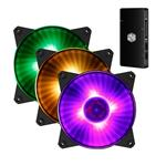 Cooler Master Masterfan Pro 120 Air Balance 120mm RGB Fan 3 Packs + Controller