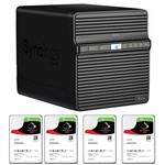 Synology DS418j 4 Bay NAS + 4x Seagate ST2000VN004 2TB IronWolf NAS HDD