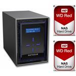 Netgear RN42200-100AJS 2 Bay NAS + 2x WD WD40EFRX 4TB Red NAS HDD