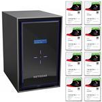 Netgear RN42800-100AJS 8 Bay NAS + 8x Seagate ST3000VN007 3TB IronWolf NAS HDD