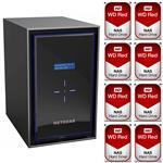 Netgear RN42800-100AJS 8 Bay NAS + 8x WD WD30EFRX 3TB Red NAS HDD