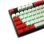 Tai-Hao MX Switch Type Doubleshot PBT 104-Key ANSI Keycap Set - Red Alarm