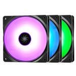 Deepcool RF120 3 in 1 120mm Customisable RGB LED Fans - 3 Pack