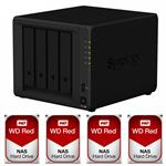 Synology DS918+ 4 Bay NAS + 4x WD WD30EFRX 3TB Red NAS HDD