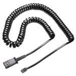Plantronics Coiled QD to Male Modular Plug Cable for M12/M22/Vista U10