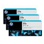 HP771B 775ML 3-Pack Ink Cartridge - Light Cyan (B6Y28A)