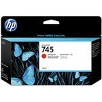 HP745 130ML Ink Cartridge - Chromatic Red (F9K00A)
