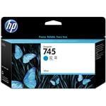 HP745 130ML Ink Cartridge - Cyan (F9J97A)