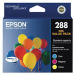 Epson 288 Standard Capacity DURABrite Ultra CMY Colour Ink Cartridge Pack
