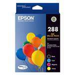 Epson 288 Standard Capacity DURABrite Ultra CMYK Colour Ink Cartridge Pack