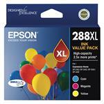 Epson 288XL High Capacity DURABrite Ultra CMY Colour Ink Cartridge Pack