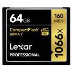Lexar Professional 1066x 64GB UDMA 7 CF Compact Flash Card - 160MB/s