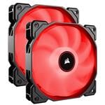 Corsair Air Series AF140 LED (2018) Low Noise 140mm Fan - Red - 2 Pack