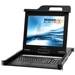 "ServerLink 17"" 16-Port VGA/USB/PS/2 KVM LCD Console Drawer w/ Remote Access"