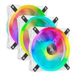 Corsair iCUE QL120 RGB White 120mm PWM Fan - Three Pack with Lighting Node CORE