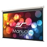 """Elite Screens Manual 100"""" 16:9 Pulldown Projection Screen - White"""