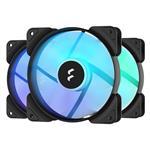 Fractal Aspect 12 RGB 120mm Case Fan - Black - 3 Pack