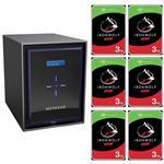 Netgear RN42600-100AJS 6 Bay NAS + 6x Seagate ST3000VN007 3TB IronWolf NAS HDD