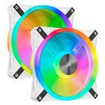 Open Box - Corsair iCUE QL140 RGB 140mm PWM Fan - Dual Pack + Lighting Node CORE