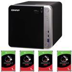 QNAP TS-453BT3-8G 4 Bay NAS + 4x Seagate ST1000VN002 1TB IronWolf NAS HDD