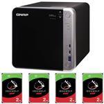 QNAP TS-453BT3-8G 4 Bay NAS + 4x Seagate ST3000VN007 3TB IronWolf NAS HDD
