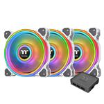 Thermaltake Riing Quad 12 RGB 120mm White Radiator Fan - 3 Pack