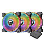 Thermaltake Riing Quad 14 RGB 140mm Black Radiator Fan - 3 Pack