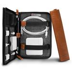 Twelve South Journal CaddySack Leather Travel Tote for Cables - Cognac